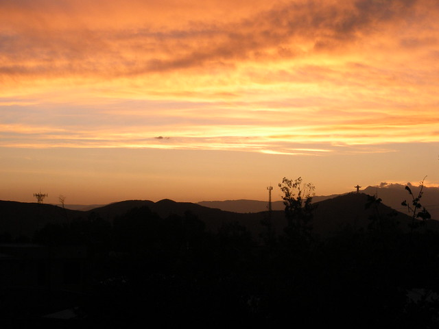 Sunset over Cochabamba