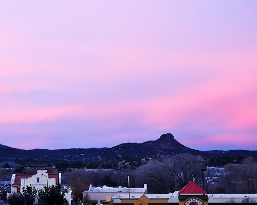 morning pink blue sky sunrise landscape outdoors early nikon scenery purple az scene 1755mmf28g nikkor prescott thumbbutte d300