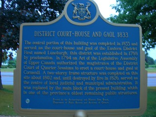 Cornwall District Courthouse & Jail Marker