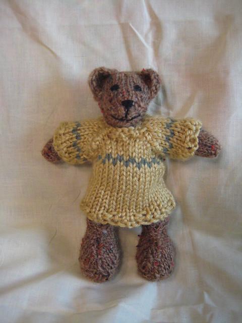 Hand-Knit Teddy Bear Flickr - Photo Sharing!