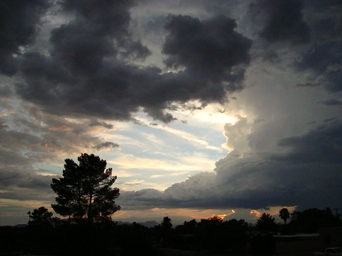 blue sunset arizona sky storm rooftop silhouette clouds tucson explore monsoon fav fromtherooftop