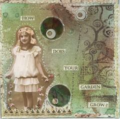 Garden Girl 4 x 4