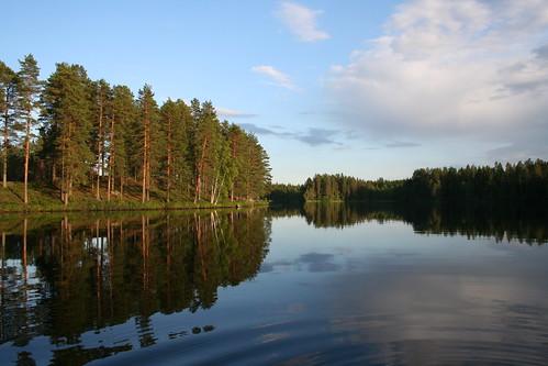 summer lake water reflections finland landscape jämsänkoski jamsankoski