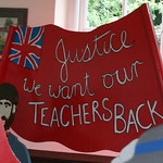 Justice - we want out TEACHERS BACK