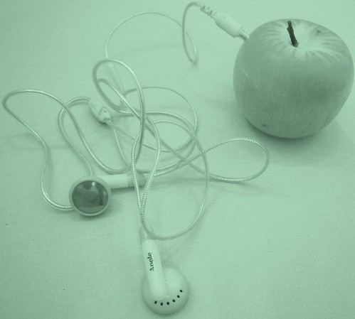 an Apple iPod  *(explored)