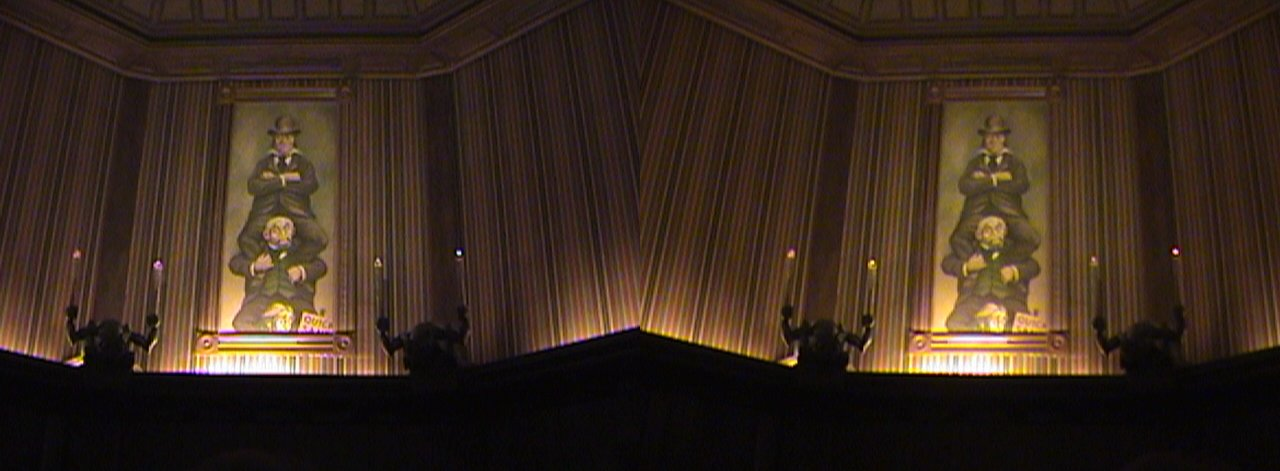 3D, Stretch Room, Haunted Mansion, New Orleans Square, Disneyland®, Anaheim, California, 2008.08.08 22:02