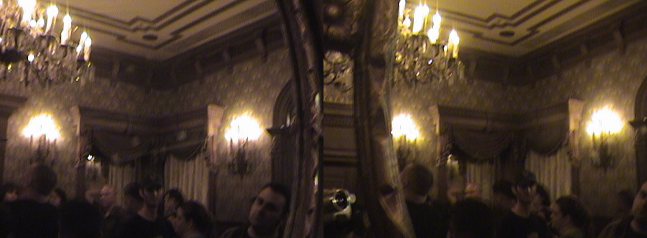 3D, Through the Looking Glass, Entrance, Foyer, Haunted Mansion, New Orleans Square, Disneyland®, Anaheim, California, 2008.08.08 21:54