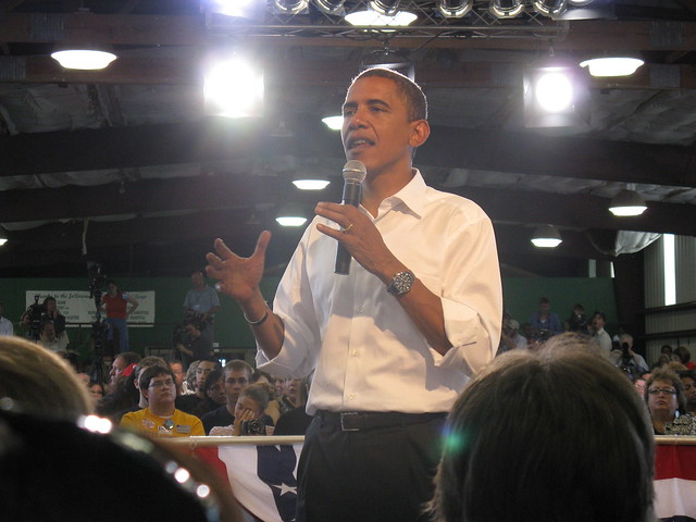 Obama in Terre Haute from Flickr via Wylio