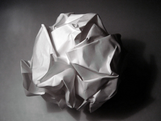 A Crumpled Paper Ball