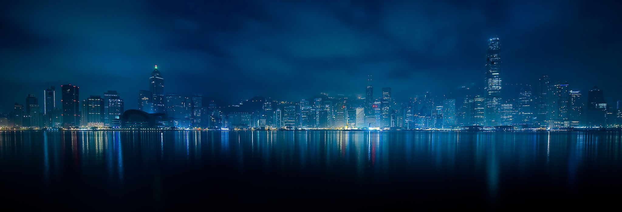 Hong Kong Harbor Blue