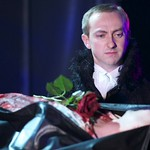 Jon Trenchard (Lady Anne) in William Shakespeare's RICHARD III directed by Edward Hall at the Huntington. Boston University School of Theatre in association with Huntington Theatre Company presents Propeller Theatre Company in William Shakespeare's 'The Comedy of Errors,' performed in repertory with 'Richard III,' directed by Edward Hall, playing May 18 - June 19, 2011 at the Avenue of the Arts / BU Theatre. Photo: Manuel Harlan