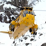 Royal Air Force Search and Rescue (SAR) Sea King in Snowdonia, Wales