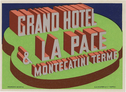 Grand Hotel & La Pace, Montecatini Terme (85mm x 116mm)