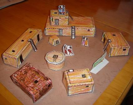Pueblo village flickr photo sharing for How to build a model pueblo house