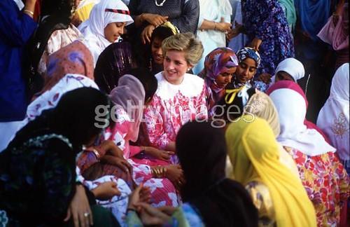 Princess Diana Visit to Oman 1986