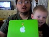 Caden and I at the iMac