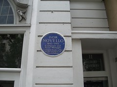 Photo of Ivor Novello blue plaque