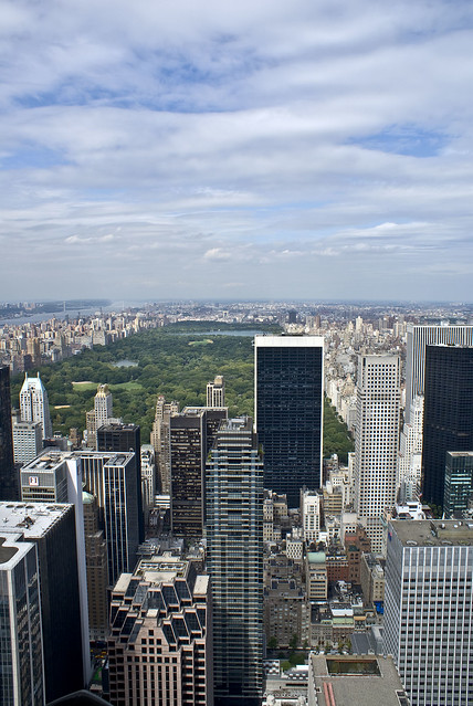 View North from Top of the Rock