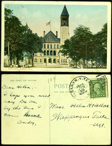 Albany City Hall postcard