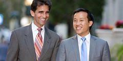 David Chiu with State Senator Mark Leno