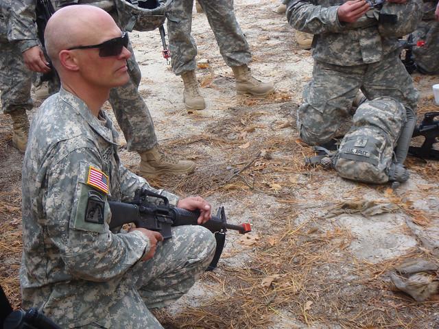 Header of american soldier