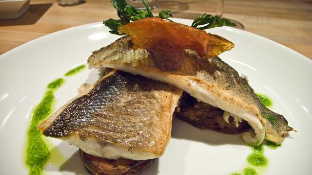Taste food wine branzino filet of branzino tapenade for Branzino fish recipes