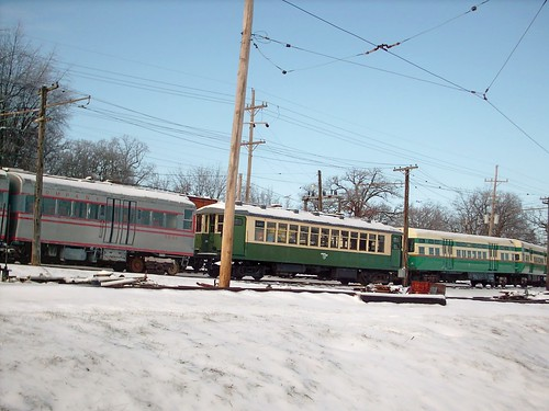 Wintertime at the Fox River Trolley Museum. South Elgin Illinois. December 2007. by Eddie from Chicago