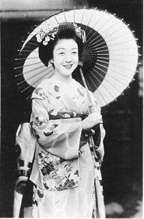 Maiko in late summer, 1950s