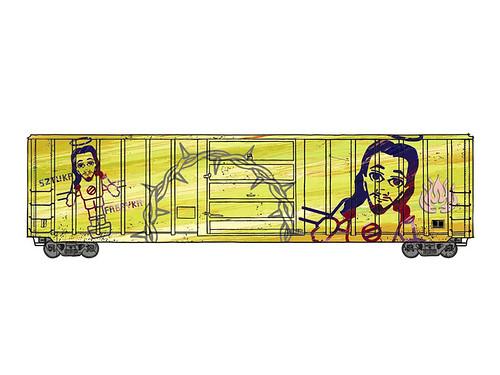 Sztuka Fabryka - Train Car Project (vector)