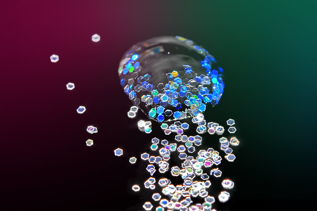 Glitter and drop