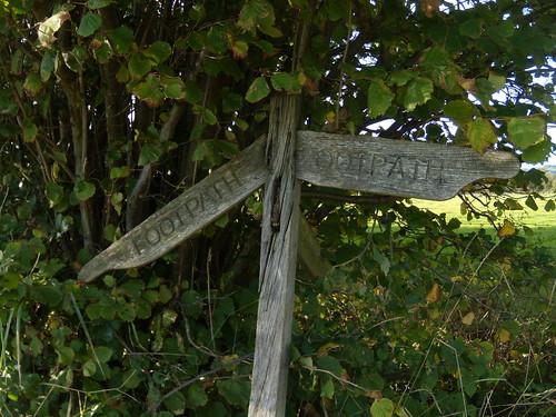 Dilapidated sign