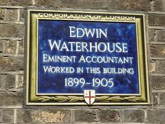 Photo of Edwin Waterhouse blue plaque
