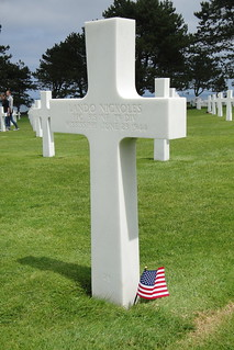 Gravestone in Normandy