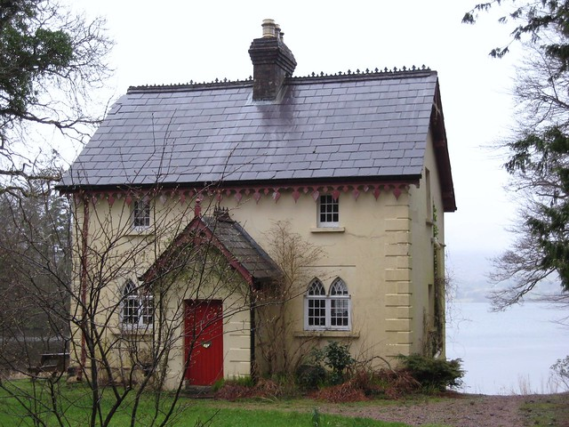 Rain Drenched Donegal Cottage Gate Lodge To Lough Eske