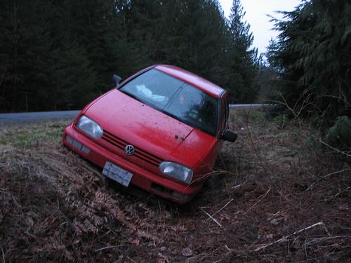 By the roadside in a ditch...It's got me under pressure