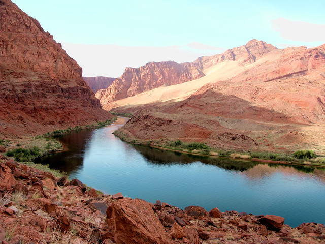 Colorado River - looking upriver from start of Spencer Trail