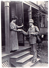 Letter Carrier Delivering Mail by Smithsonian Institution