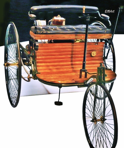 1. Automobile, Car. The Bertha & Carl Benz motorcar,   aka