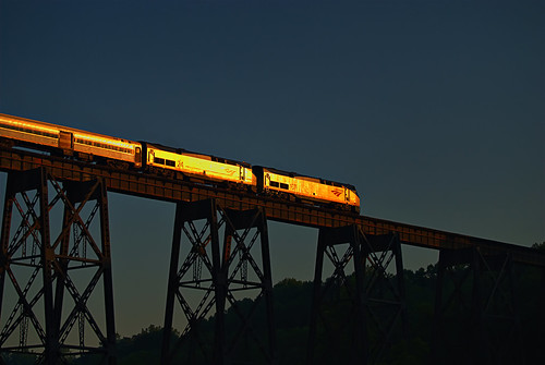 Amtrak Crescent on the James River Trestle