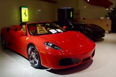automobile(1.0), wheel(1.0), vehicle(1.0), performance car(1.0), automotive design(1.0), auto show(1.0), ferrari f430(1.0), land vehicle(1.0), luxury vehicle(1.0), supercar(1.0), sports car(1.0),