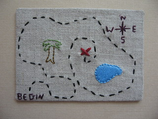 Treasure Map ATC