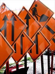 'Construction Signs' by jphilipg on Flickr