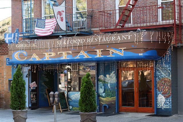 Greek captain seafood restaurant astoria queens flickr for Astoria greek cuisine