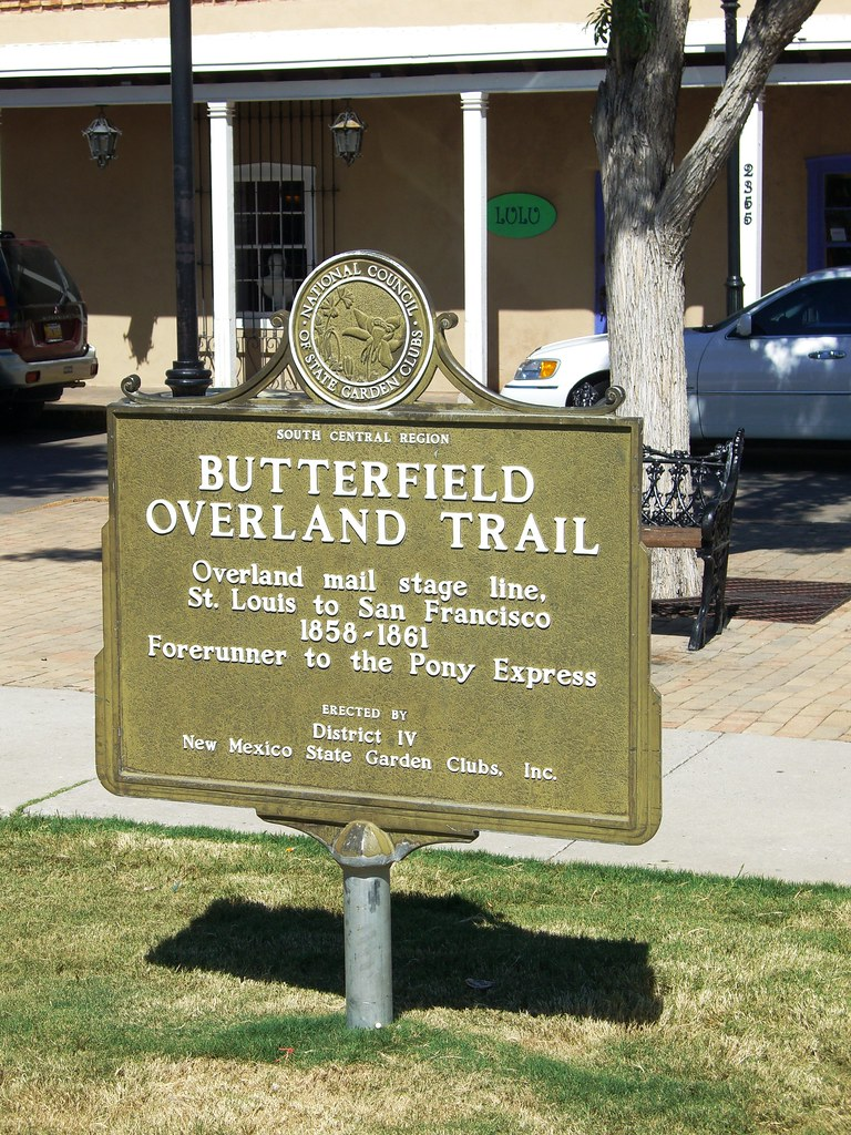 Old Mesilla, New Mexico - Monument Marker of the Butterfie