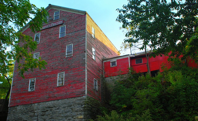 there is an old mill adjacent to Glen Falls in Williamsville, NY