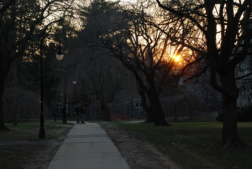 Sunset on campus