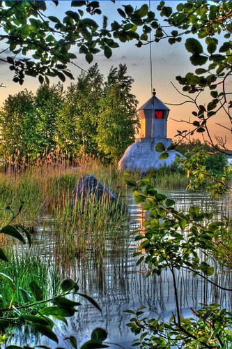 sunset summer lighthouse water canon finland sunny hdr 30d säynätsalo