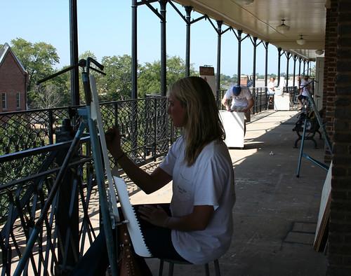 painting woods view balcony rolltide alabama brush tuscaloosa teaching app arthistory easel crimsontide ugrad studentart universityofalabama studioart woodsquad uaart