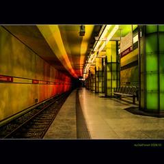 Subways in Munich  (3) Candidplatz green, yellow and red