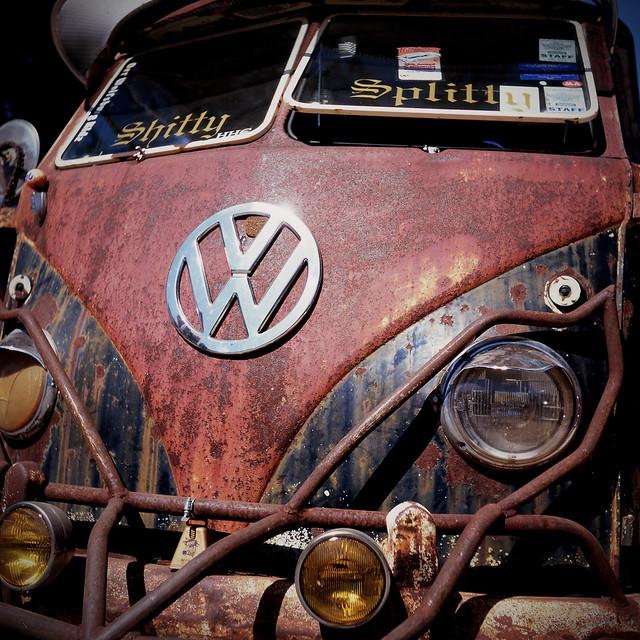 "1958 VW Shitty Splitty | '58 vw bus. The ""shitty splitt ..."